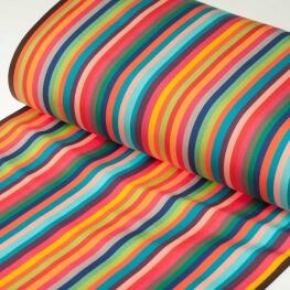 Tissu toile d'extérieur transat - Largeur 43cm - Rayures Hossegor