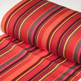 Tissu toile d'extérieur transat - Largeur 43cm - Rayures Biarritz