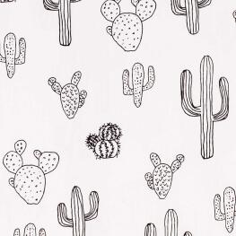Tissu popeline coton cactus - Bicolore