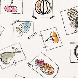 Tissu jersey love fruits - Multicolore