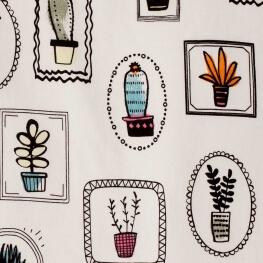 Tissu jersey love cactus - Multicolore
