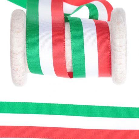 Ruban drapeau Italie au mètre - 25mm