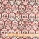 Tissu jacquard crâne dia de los muertos - Multicolore