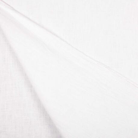 Tissu lin lavé uni - Blanc
