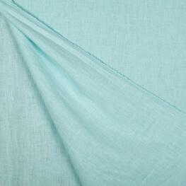 Tissu lin lavé uni - Turquoise clair