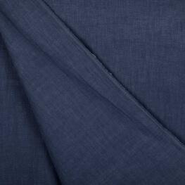 Tissu lin lavé uni - Bleu jean