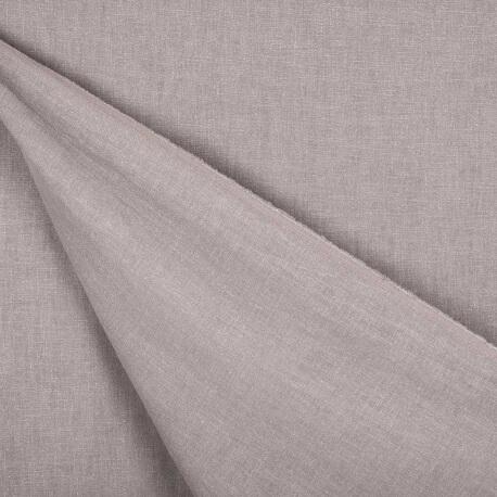 Tissu lin lavé uni - Gris