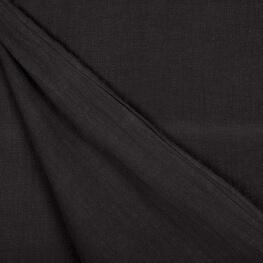 Tissu lin lavé uni - Noir