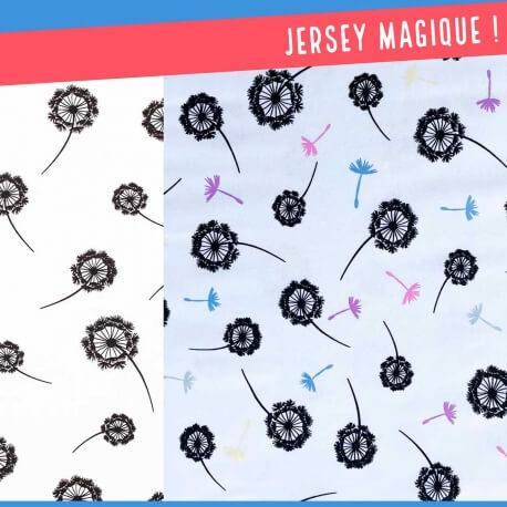 Tissu jersey magique - Fleurs