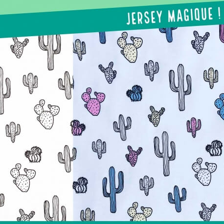 Tissu jersey magique - Cactus