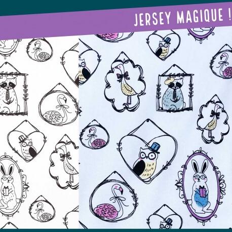 Tissu jersey magique - Animaux