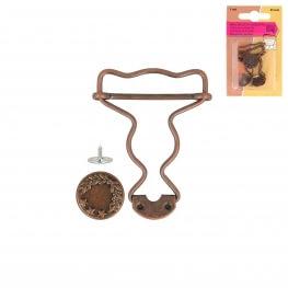 Boucles salopette adulte ou enfant - Bronze