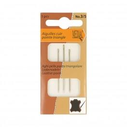 Pochette 3 aiguilles pour cuir peau et gants