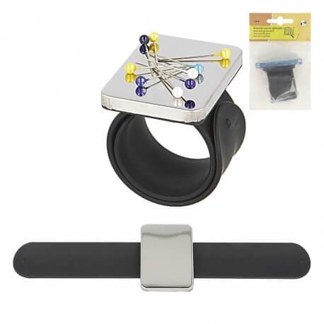 Bracelet porte-épingles magnétique