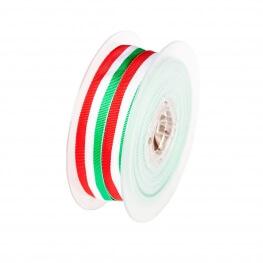 Rouleau ruban drapeau italien - Vert blanc rouge