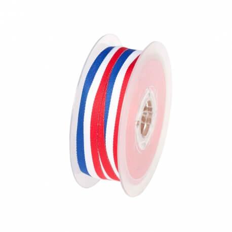Rouleau ruban drapeau français - Bleu blanc rouge