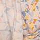 Tissu coton double gaze graphique - Rose & bleu