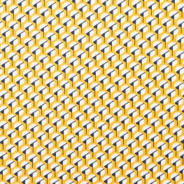 Tissu micro satin pretty graphic - Jaune