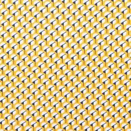 Tissu micro satin pretty graphic - Jaune