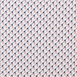 Tissu micro satin pretty graphic - Rose