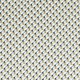 Tissu micro satin pretty graphic - Beige