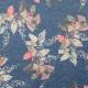 Tissu feuilles couleurs d'automne - Bleu