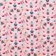 Tissu velours milleraies bird & flowers - Rose