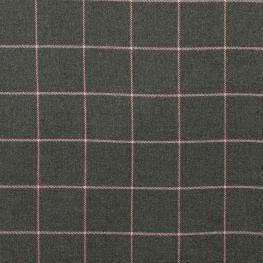 Tissu à carreaux - Gris & rose clair