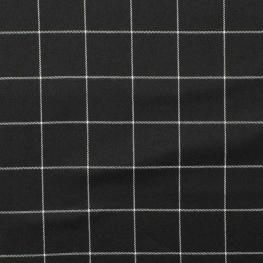Tissu à carreaux - Noir & blanc