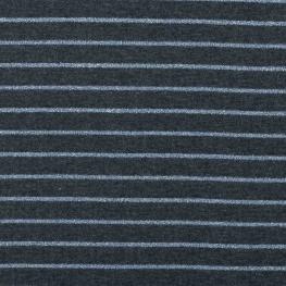 Tissu jersey à rayures lurex - Bleu & bleu brillant