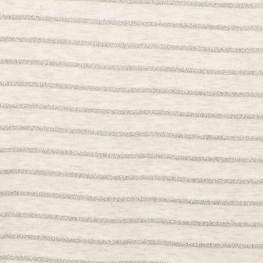 Tissu jersey à rayures lurex - Gris claire chiné & argenté