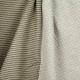 Tissu jersey sweat recto matelassé, verso rayure lurex - Gris & doré