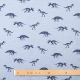 Tissu jersey dinosaure - Bleu chiné & bleu marine