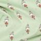 Tissu jersey glitter girls - Vert & argenté
