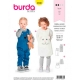 Patron combinaison & robe bébé, Burda 9330