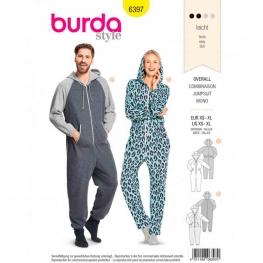 Patron combinaison femme & homme, Burda 6397