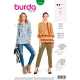 Patron blouse femme, Burda 6354