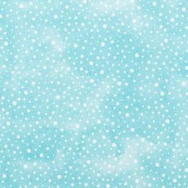 Tissu coton élégant dots - Bleu