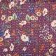Tissu fleuri cherry - Bordeaux
