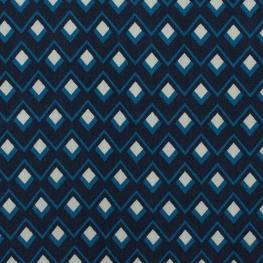 Tissu viscose twill graphic - Bleu