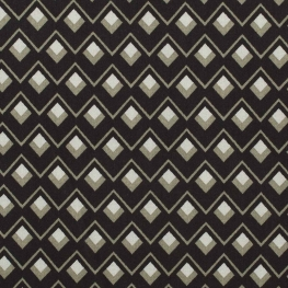 Tissu viscose twill graphic - Noir & kaki