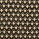 Tissu viscose twill graphic - Noir & ocre