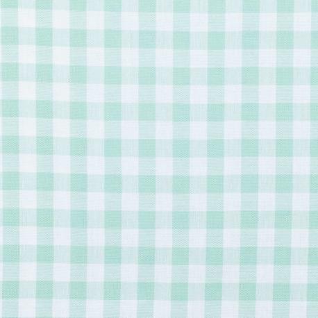 Tissu vichy - Vert amande et blanc