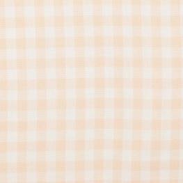Tissu vichy - Tendre pêche & blanc