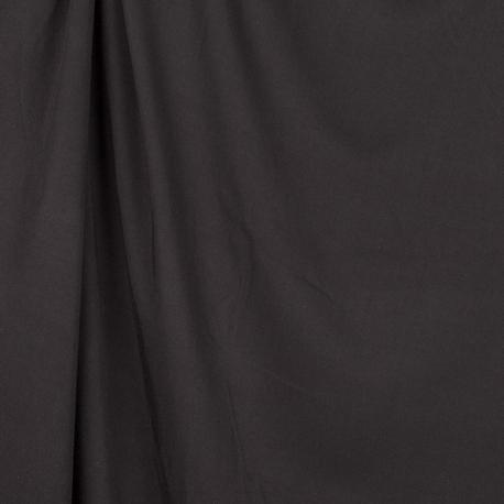 Tissu twill viscose uni - Noir