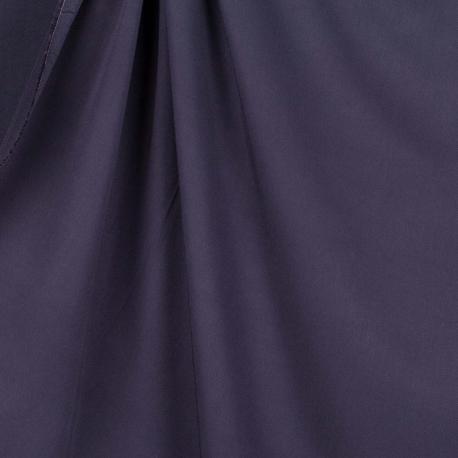 Tissu twill viscose uni - Bleu marine
