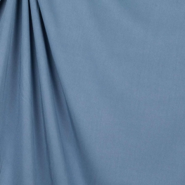Tissu twill viscose uni - Bleu denim