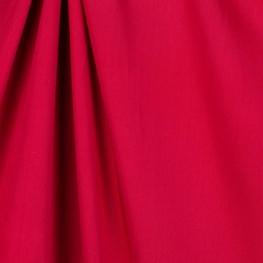 Tissu twill viscose uni - Rouge foncé