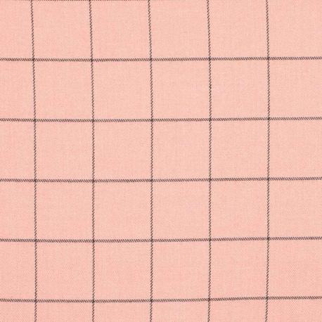 Tissu à carreaux - Rose & gris