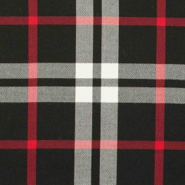 Tissu écossais tartan - Rouge & noir